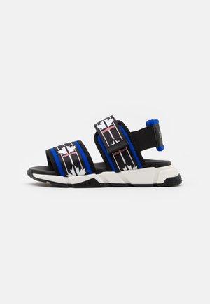 UNISEX - Sandals - black/blue