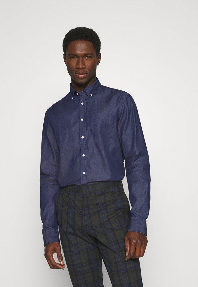 SLIM - Skjorta - dunkelblau