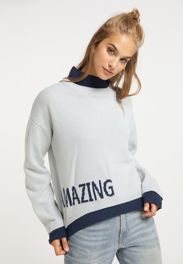 Pullover - eisblau