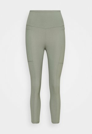 POCKET 7/8 - Tights - basil green