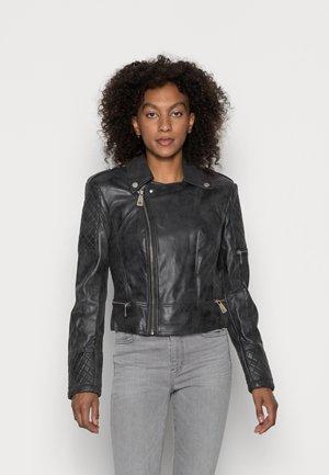 YVETTE JACKET - Faux leather jacket - grey washed