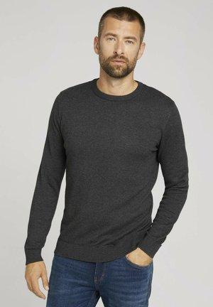 Sweatshirt - black grey melange