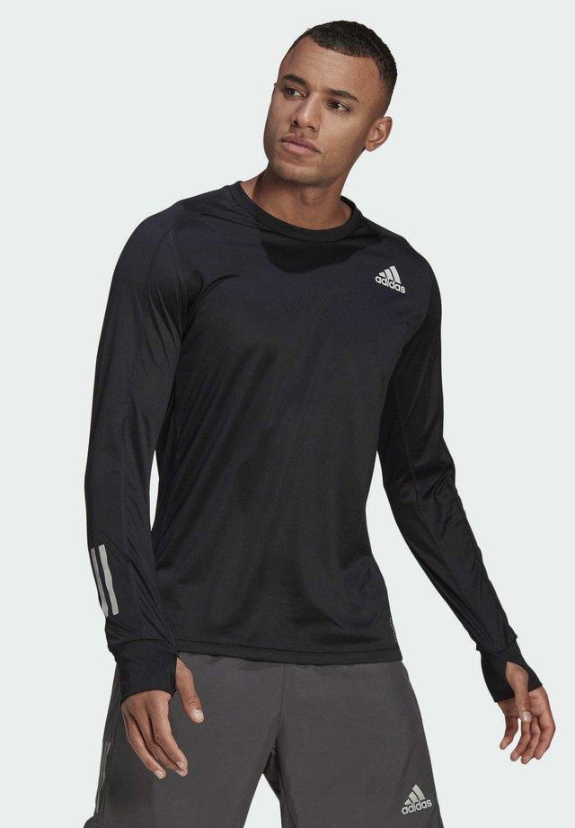 OWN THE RUN LONG-SLEEVE TOP - T-shirt de sport - black