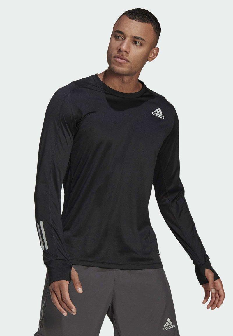 adidas Performance - OWN THE RUN LONG-SLEEVE TOP - Sports shirt - black