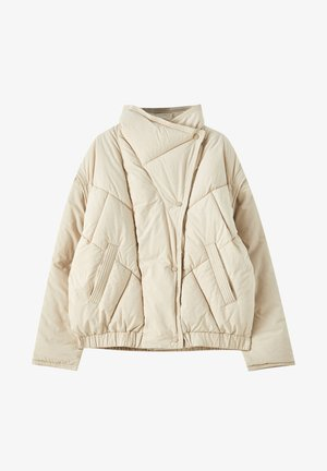 Winter jacket - mottled beige
