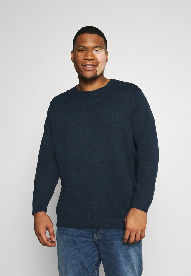 BASIC CREW NECK  - Strikkegenser - navy blue heather