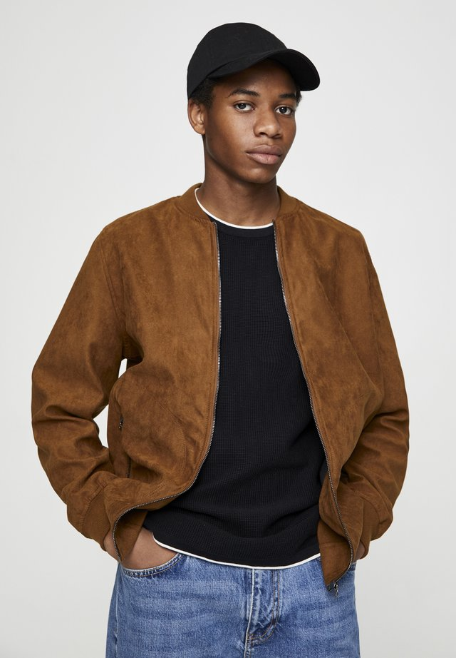 Giubbotto Bomber - brown