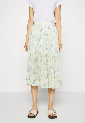 PLEATED MIDI - A-line skjørt - white