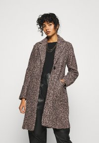 JDY - JDYLOOPY COATIGAN - Cappotto classico - pale dogwood/black naps - 0
