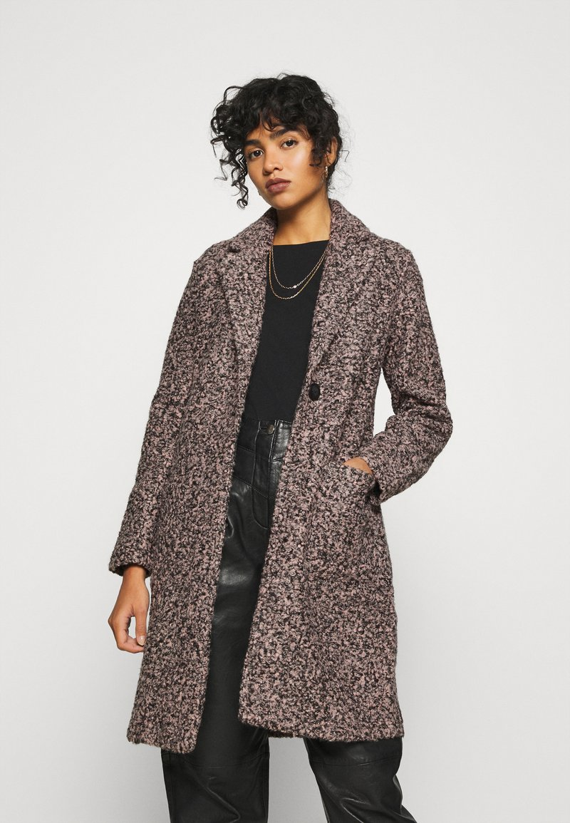 JDY - JDYLOOPY COATIGAN - Classic coat - pale dogwood/black naps