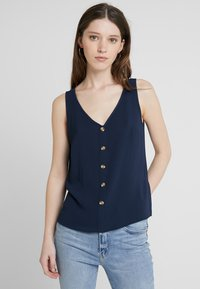 Vero Moda - VMSASHA BUTTON  - Blouse - navy blazer - 0