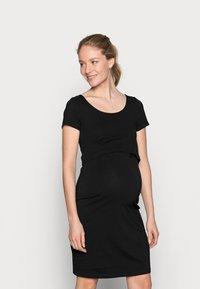 Anna Field MAMA - 2ER PACK NURSING FUNCTION DRESS - Sukienka etui - black/bordeaux - 3