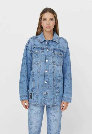 MICKEY  - Džínová bunda - mottled light blue