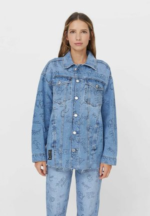MICKEY  - Denim jacket - mottled light blue