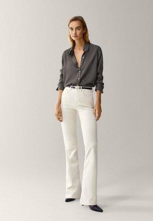 UNIFARBENES - Button-down blouse - khaki