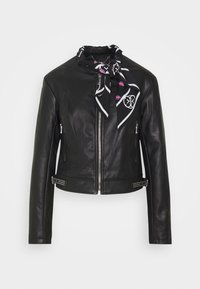 Guess - NEW JONE JACKET - Keinonahkatakki - jet black - 3