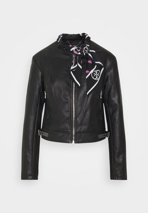 NEW JONE JACKET - Faux leather jacket - jet black