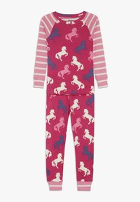 Hatley - KIDS CLASSIC PYJAMAS PLAYFUL HORSES - Pyžamo - pink - 0