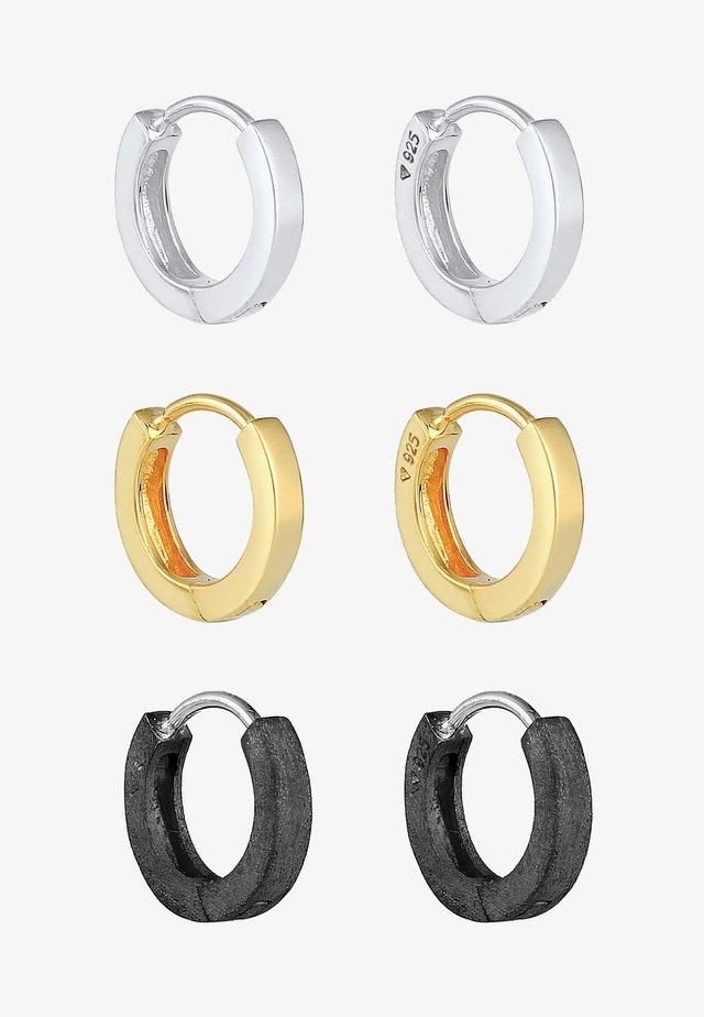 SET - Oorbellen - silver gold