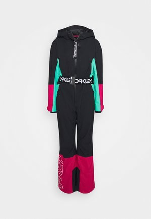CASSIA ONE PIECE - Pantalon de ski - black/mint