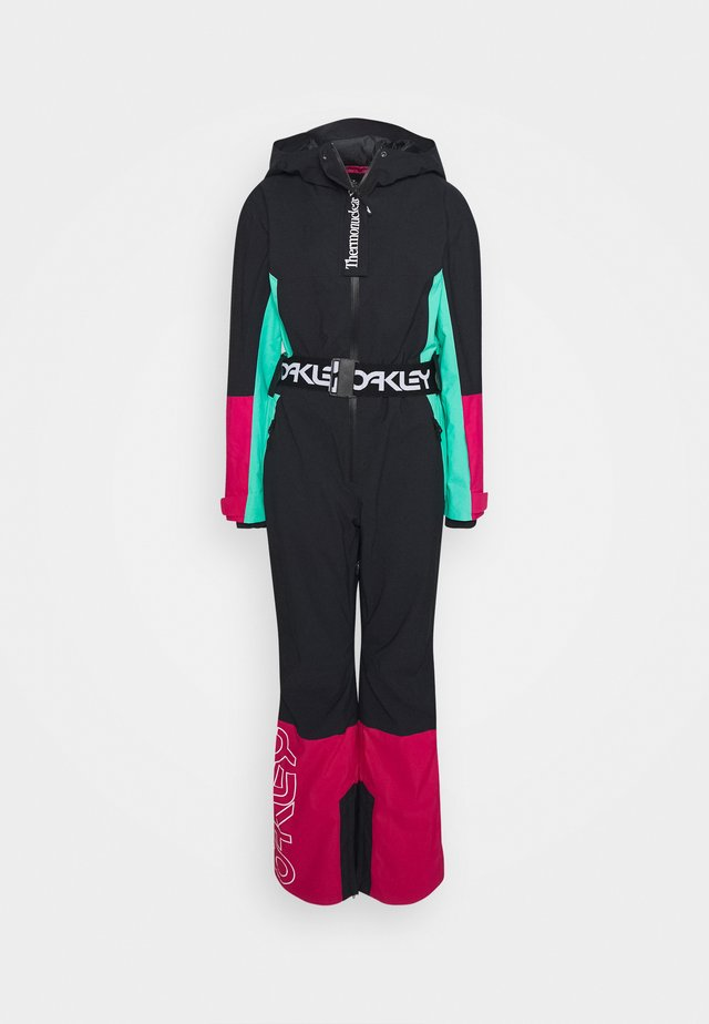 CASSIA ONE PIECE - Ski- & snowboardbukser - black/mint
