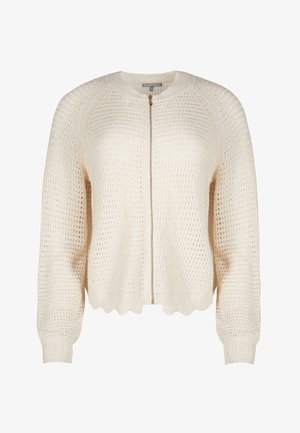 POINTELLE KNITTED - Strickjacke - blanc