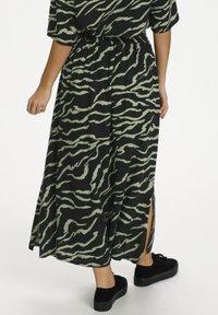 Kaffe - Maxi skirt - black  hedge zebra print - 2