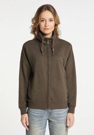 Zip-up hoodie - militäroliv