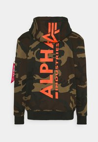 Alpha Industries - BACK HOODY CAMO - Hoodie - woodland - 1