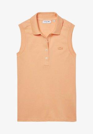 SLEEVELESS BASIC SLIM FIT - Polo shirt - hell orange