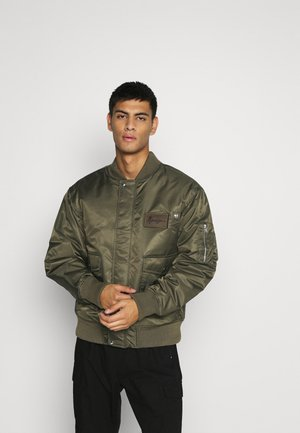 DOUBLE POCKET - Bomber Jacket - khaki