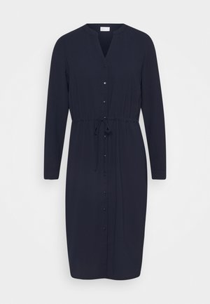 VISALLI  V NECK BUTTON DRESS - Day dress - navy blazer