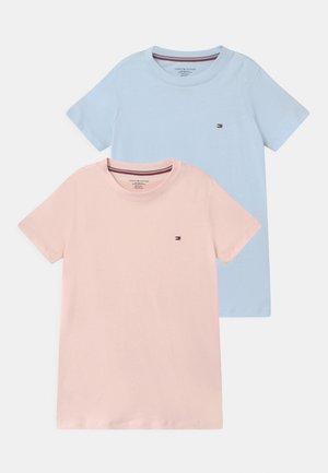 2 PACK  - Pyjama top - pale pink/luminous blue
