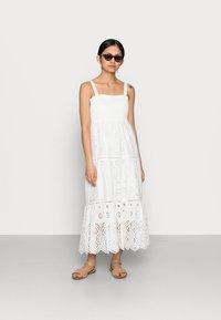 Forever New Petite - LORETTA SHIRRED MIDI DRESS - Maxi dress - porcelain - 1