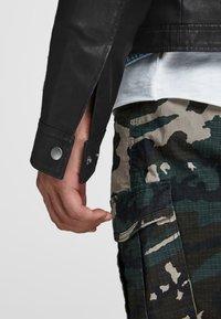 Jack & Jones - Leather jacket - black - 3