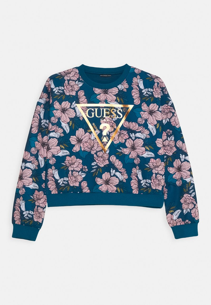 Guess - JUNIOR ACTIVE TOP - Sweatshirt - white/blue sky