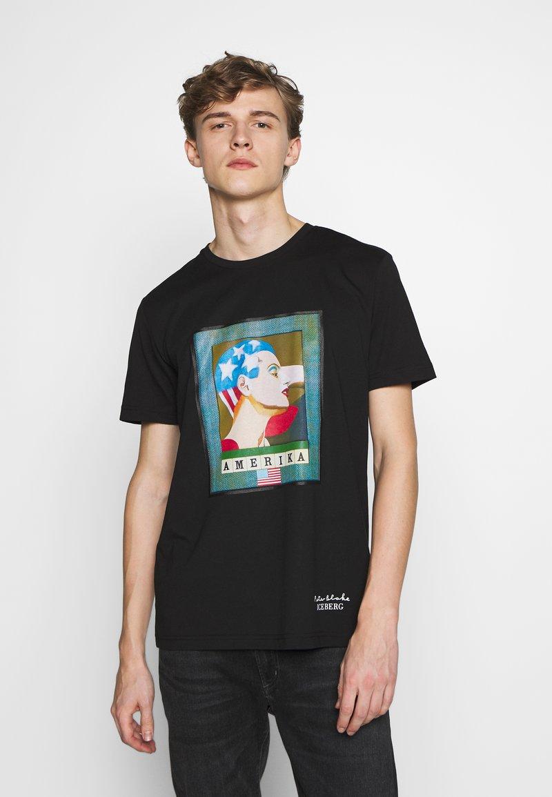 Iceberg - PETER BLAKE AMERICA  - Print T-shirt - nero
