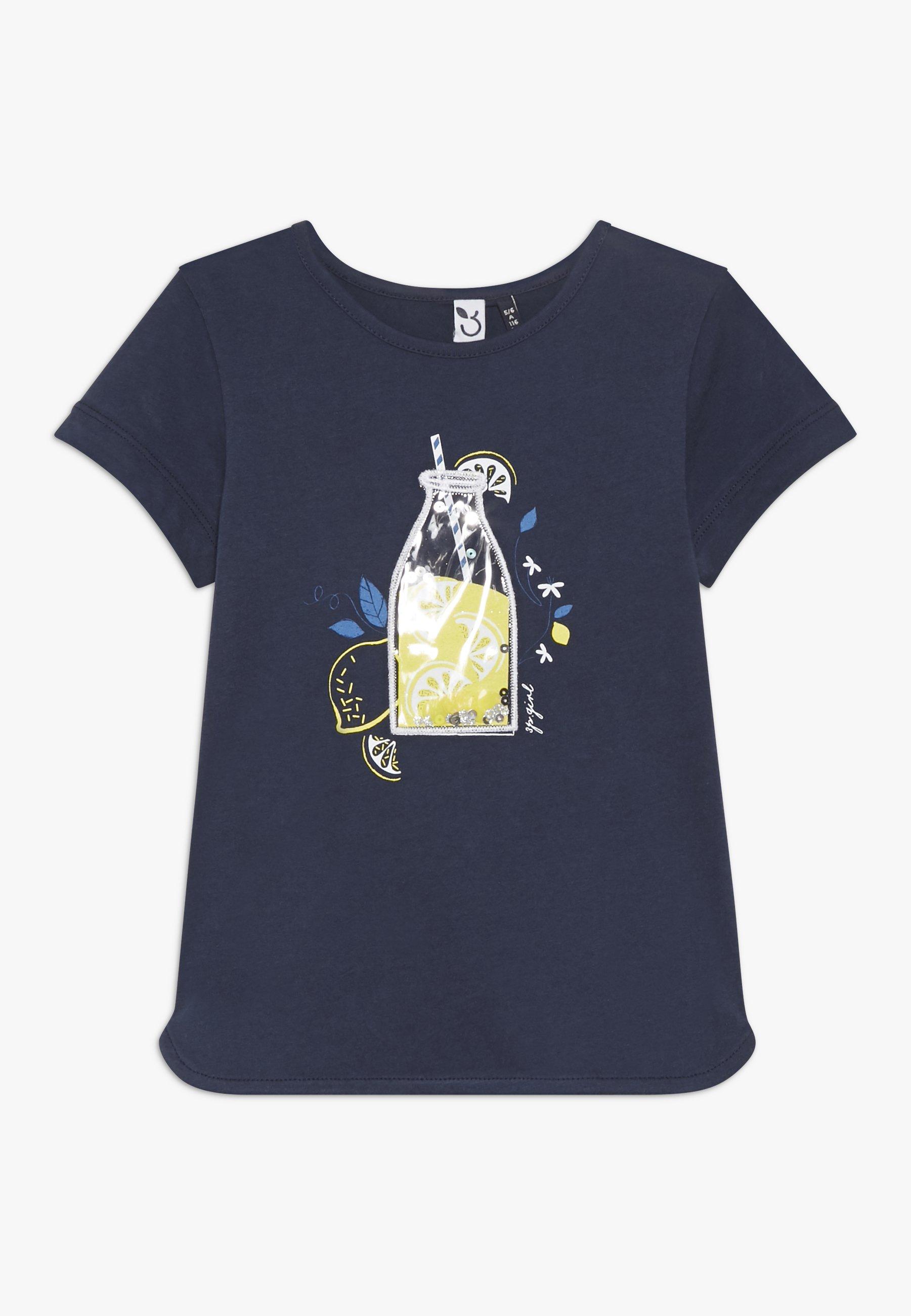 Große Förderung 3 Pommes TEE SHORT SLEEVES - T-Shirt print - blue night   Damenbekleidung 2020