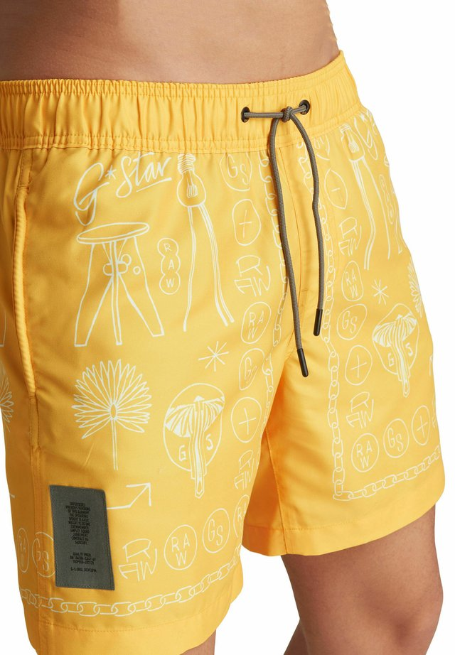 DIRIK FUNGUS SWIM - Shorts da mare - hawai yellow objects mirror