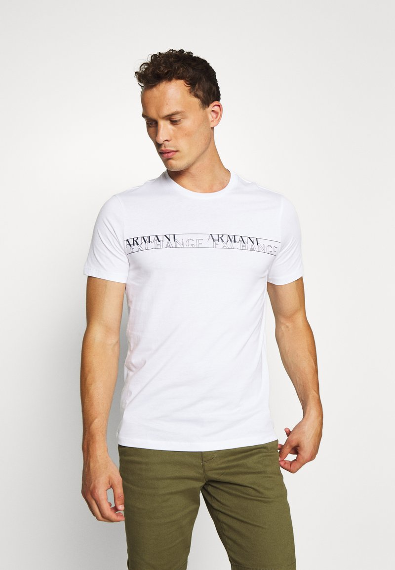 Armani Exchange - T-shirt con stampa - white