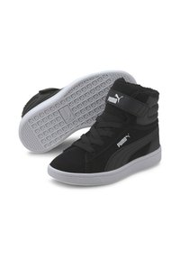 Puma - VIKKY MID - High-top trainers - black white - 1