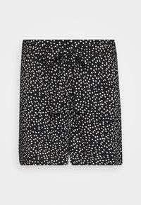 Dorothy Perkins Curve - TIE WAIST SPOT PRINT - Shorts - black - 3