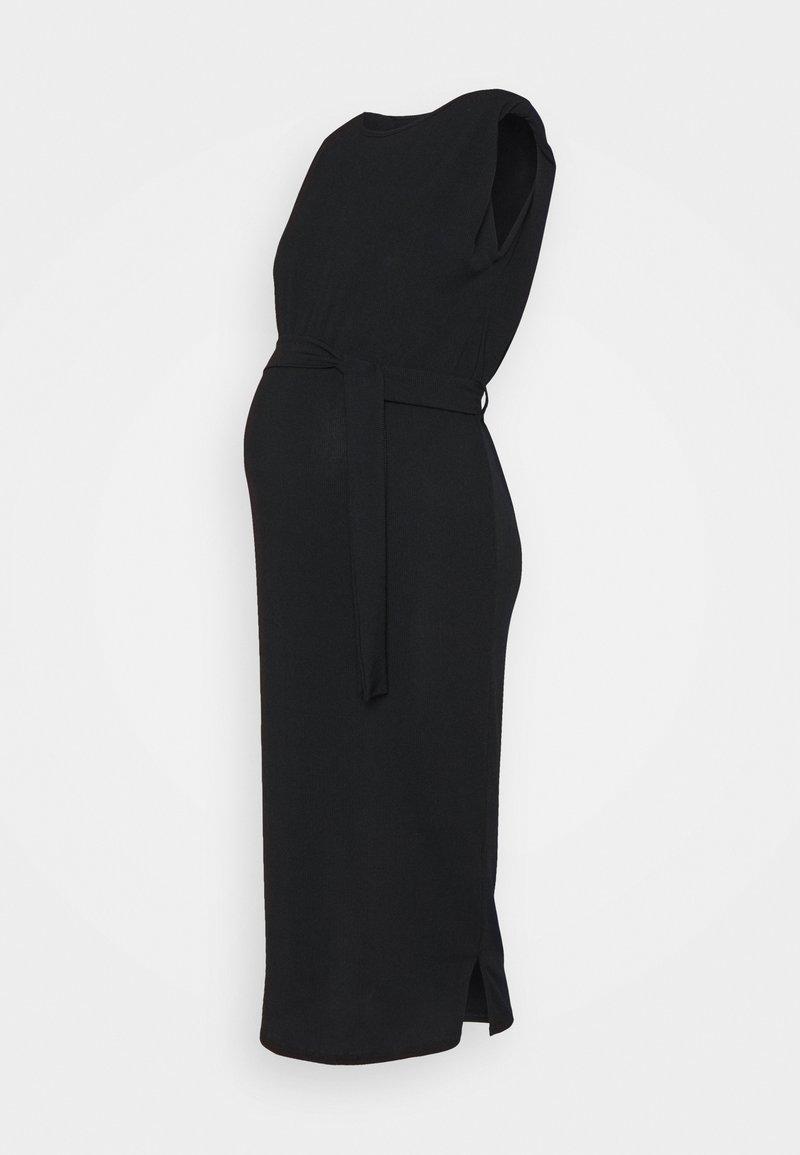 Missguided Maternity - SHOULDERPAD BELTED - Pouzdrové šaty - black