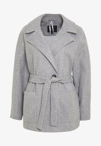 Dorothy Perkins - SHORT WRAP LIGHTWEIGHT COAT - Krátký kabát - grey - 4