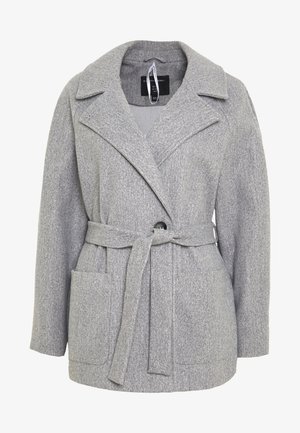 SHORT WRAP LIGHTWEIGHT COAT - Krátký kabát - grey