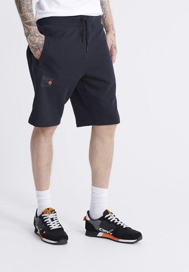 SUPERDRY CORE SPORT SHORTS - Shorts - black