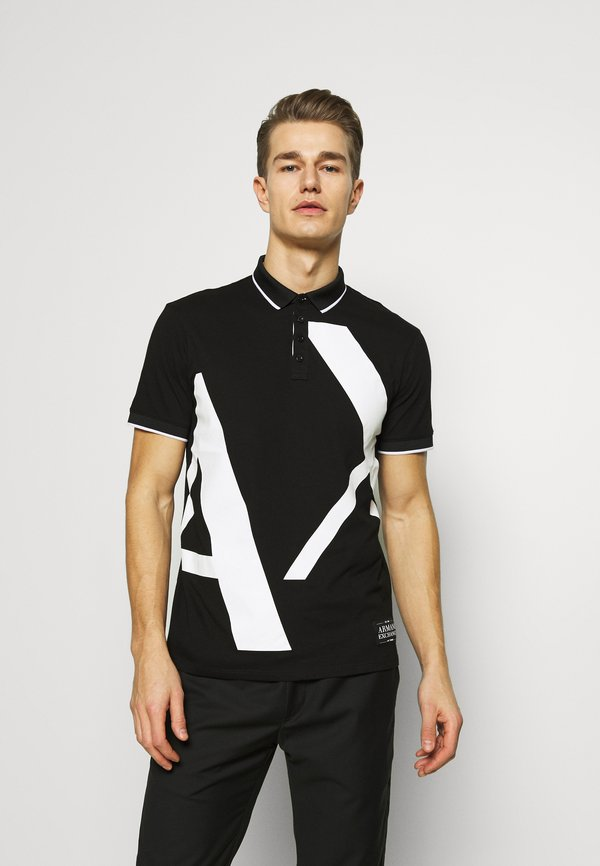 Armani Exchange Koszulka polo - black/czarny Odzież Męska DAUJ