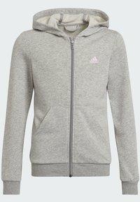 adidas Performance - Sweat à capuche zippé - grey - 5