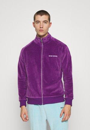 TRACK JACKET UNISEX - Sweat à capuche zippé - purple
