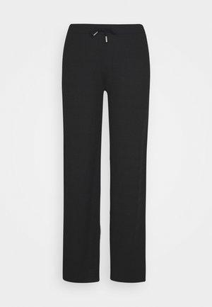 DRAWSTRING PANTS - Pantaloni - black